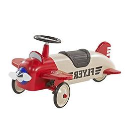 Lil' Wings Metal Biplane Ride On Toy for Toddlers 22 x 19 x