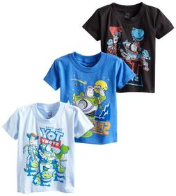 Disney Little Boys' Toddler Toy Story 3 Pack T-Shirts, Multi
