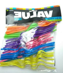 Amscan Silly Straws | Party Favor | Pack of 36