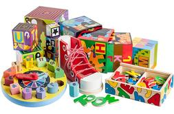 Melissa & Doug Wooden Baby & Toddler Toys Lacers Puzzles Mag