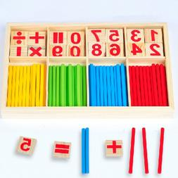 NEW Montessori Mathematical Educational Wooden Counting Stic
