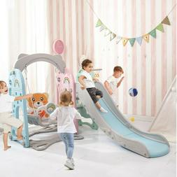 NEW Swing Set For Backyard Playground Slide Fun Playset Outd