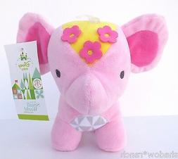 NWT Disney Baby Its a Small World Pink Elephant Plush Girls