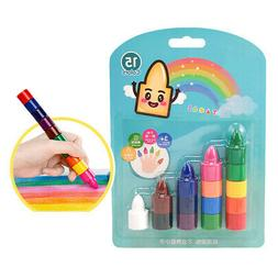 Palm-Grip Crayons Paint Stackable Toys Toddlers Kids Drawing