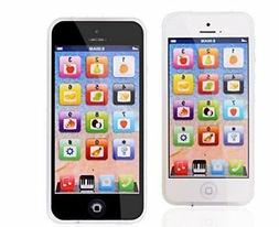 YPhone Kids Learning Toy Play Cell Phone Black with USB Rech