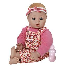 """Adora PlayTime Baby Flower Vinyl 13"""" Girl Weighted Washable"""