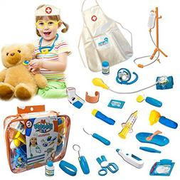 Skoolzy Pretend Play Kids Toys  Doctor Kit With Sounds And L