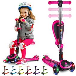 Scooter for Kids with Folding Seat – New 2-in-1 Adjustable
