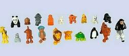 Set of 20 Plastic Zoo Animals Educational Toys for Toddlers