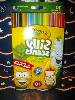 """Crayola Silly Scents 10 Count Markers """"WASHABLE"""" Updated edi"""