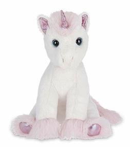 "Stuffed Animal Unicorn Plush Toy Pink White 12"" Kids Toddler"