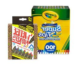 Crayola 100Count Super Tips Washable Markers with 12Count We