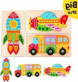 Toddler Puzzles Toys Gift for 2 3 4 Year Old, Wooden Learnin