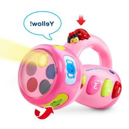 Toddler Toys Learning Color Flashlight Vtech Girls Pink Educ