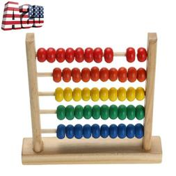 Wooden Abacus 100 Beads Counting Number Preschool Kids Learn