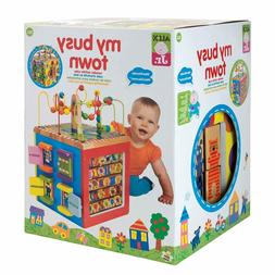 Wooden Activity Cube Learning Toy Baby Toddler Play Developm