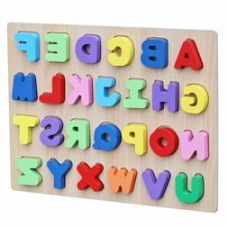 wooden alphabet puzzle board for toddlers educational