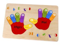Toysters Wooden Chunky Hand Puzzle for Toddlers | 12-Piece C