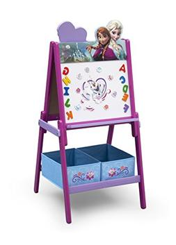 Delta Children Wooden Double Sided Activity Easel with Puzzl