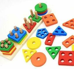 WOODEN EDUCATIONAL PRESCHOOL TODDLER TOYS FOR 1 2 3 4 5 YEAR