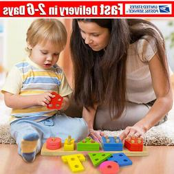 Wooden Educational Preschool Toddler Toys for 1 2 3 4-5 Year