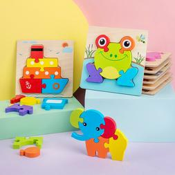 wooden jigsaw puzzles for toddlers kids montessori