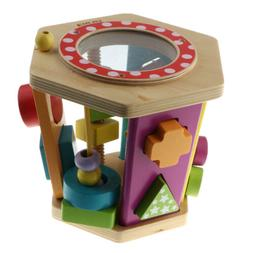 Wooden Shape Sorter Toy Toddlers Baby Color Recognition Geom