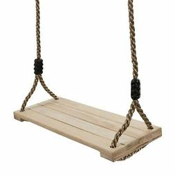 Wooden Tree Swing with Ropes Toddlers Kids Hanging Swing Out